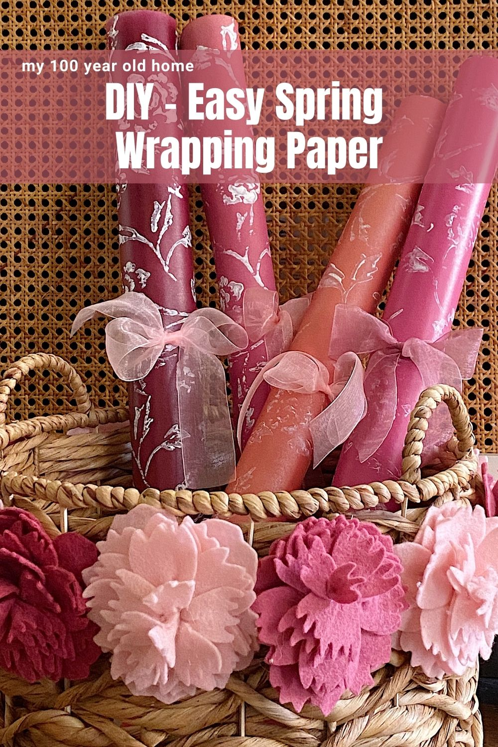 I decided to come up with a craft idea only using things I already own. This homemade spring wrapping paper is one of my new favorite easy paper crafts.