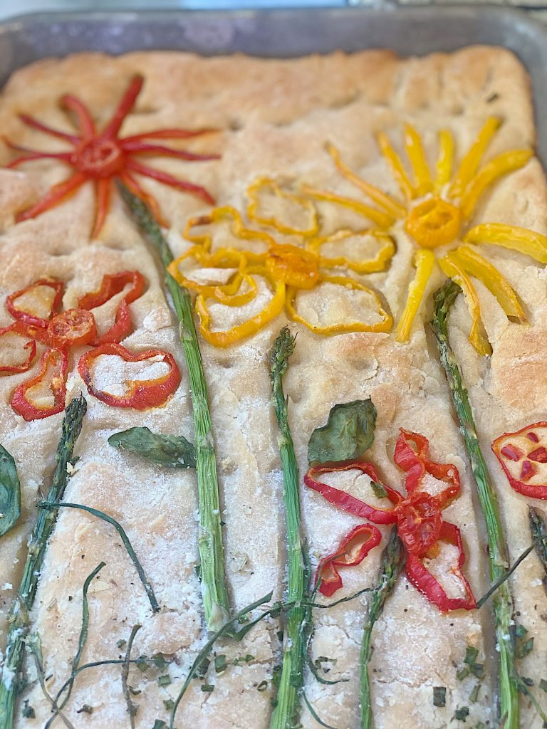 Focaccia Bread Art After Baking