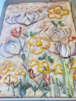 Focaccia Bread Art Cooked