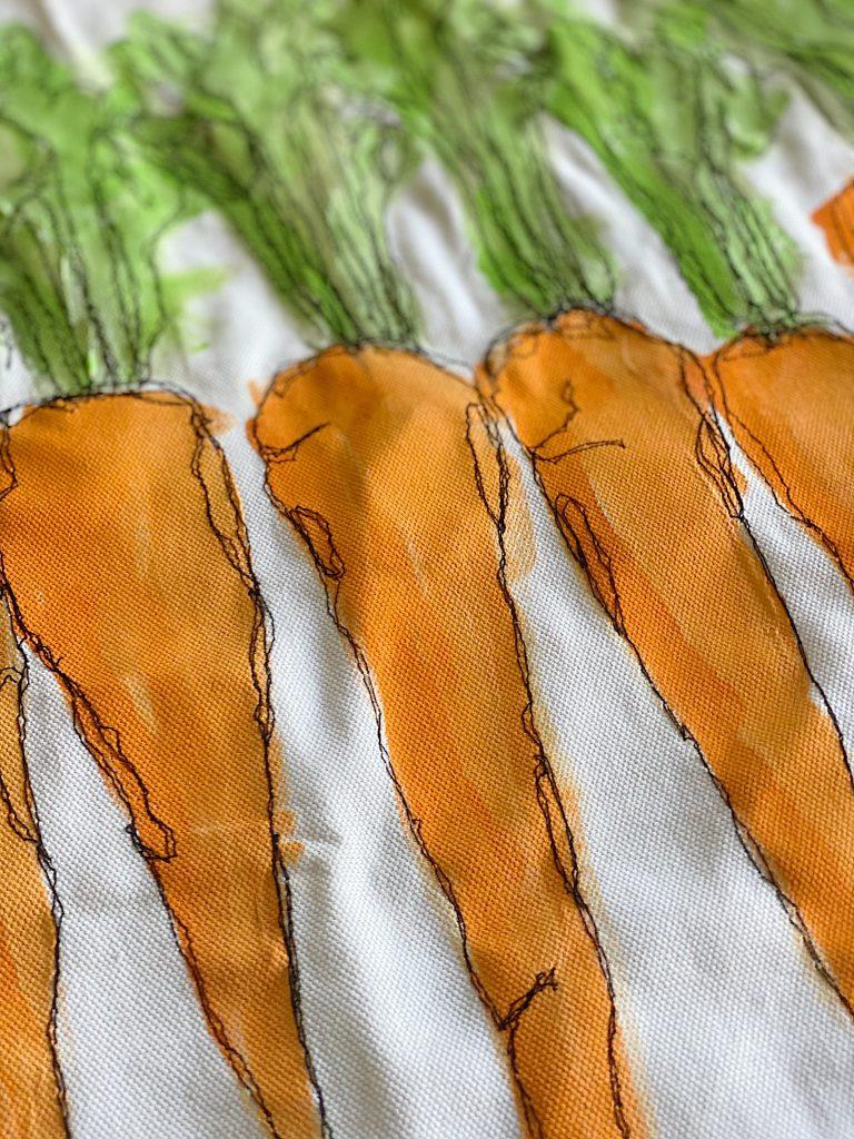 Free Motion Stitch Embroidery Close Up