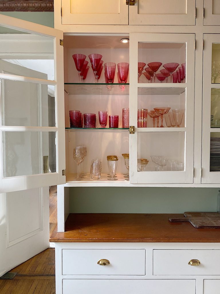Glasses in the Butler's Pantry