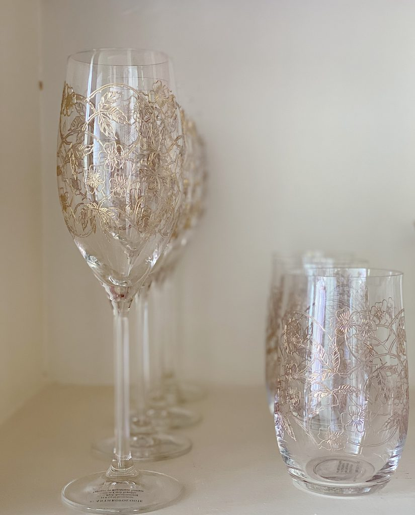 Gold Etched Glasses