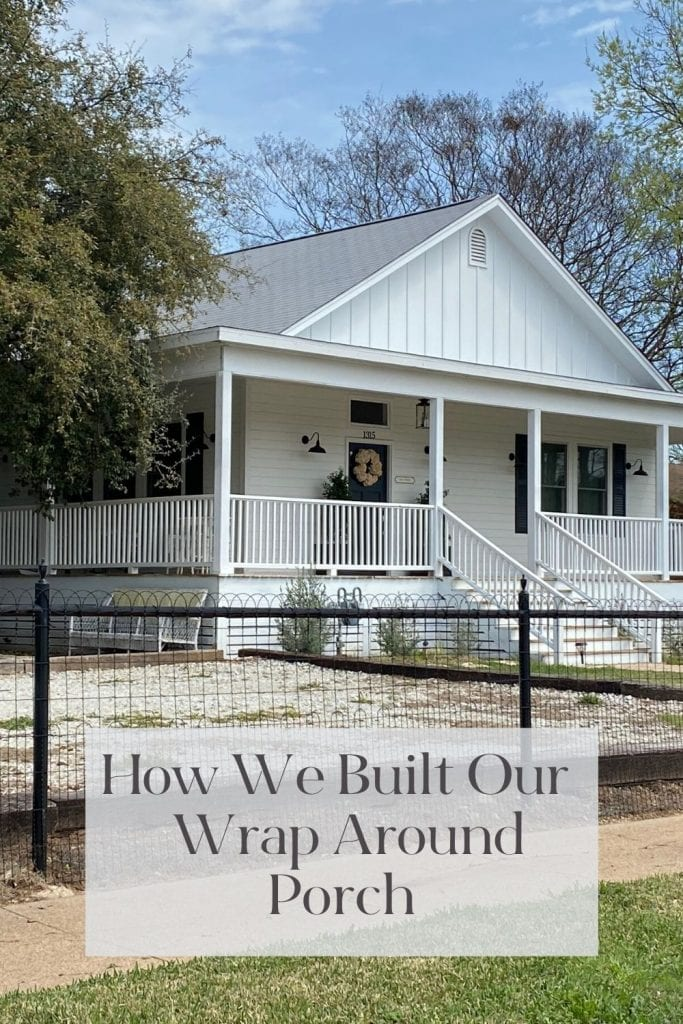I always dreamed about having a wrap around porch. When I bought the Waco Home I knew it could happen. Find out why it almost didn't.