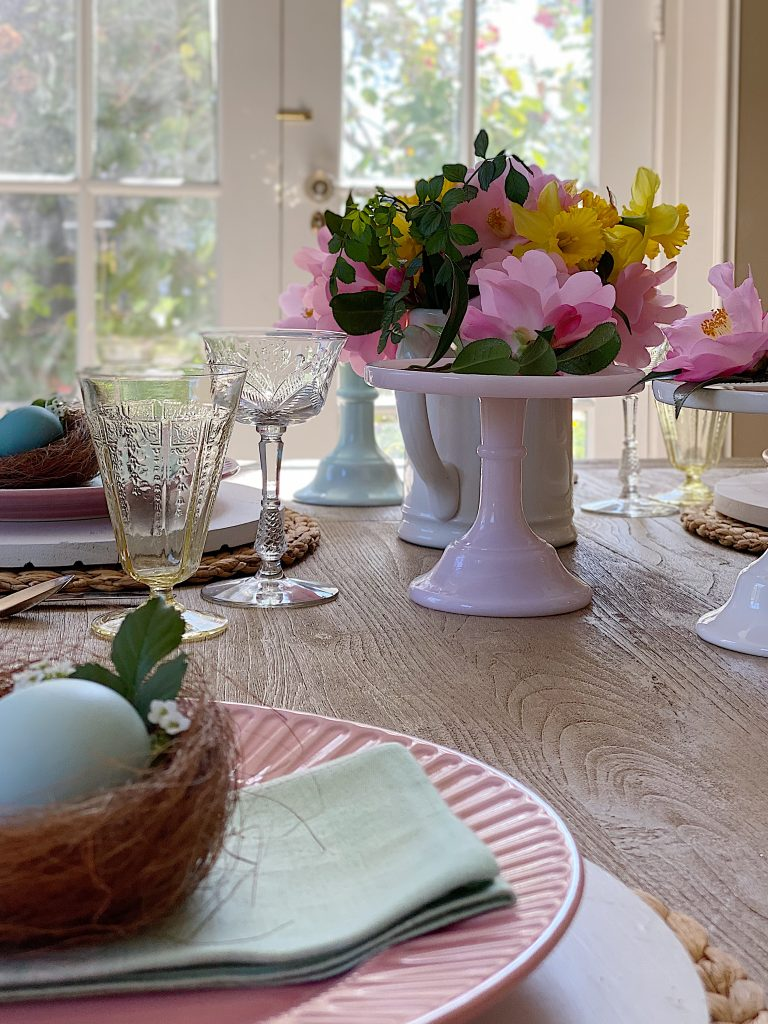 My Colorful Table for Easter Dinner
