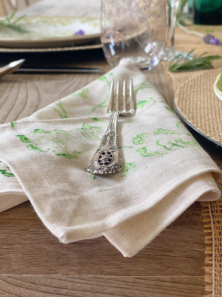 Painted Napkins Spring Crafts