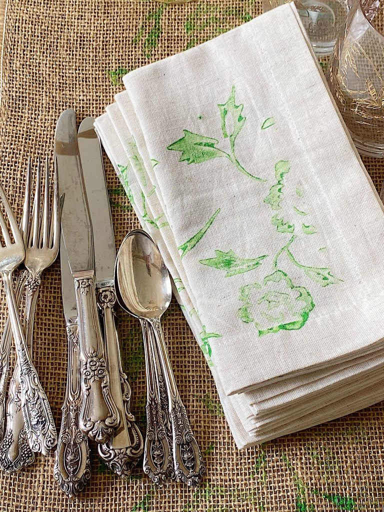Painted Napkins - Spring Crafts