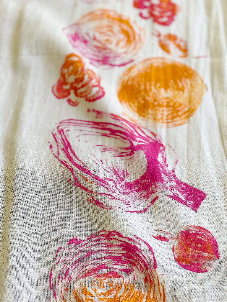 Printing with Vegetables and Ink