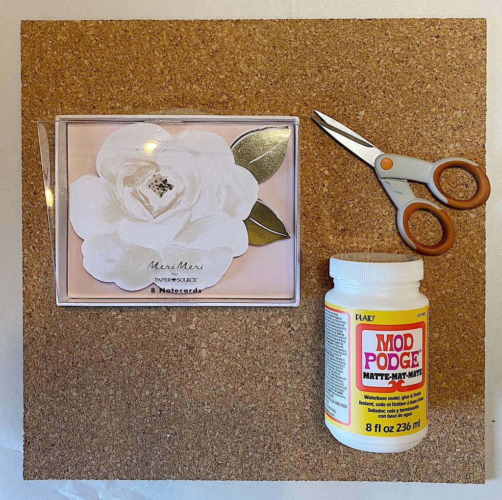 Supplies to Make Easy Paper Craft Coasters