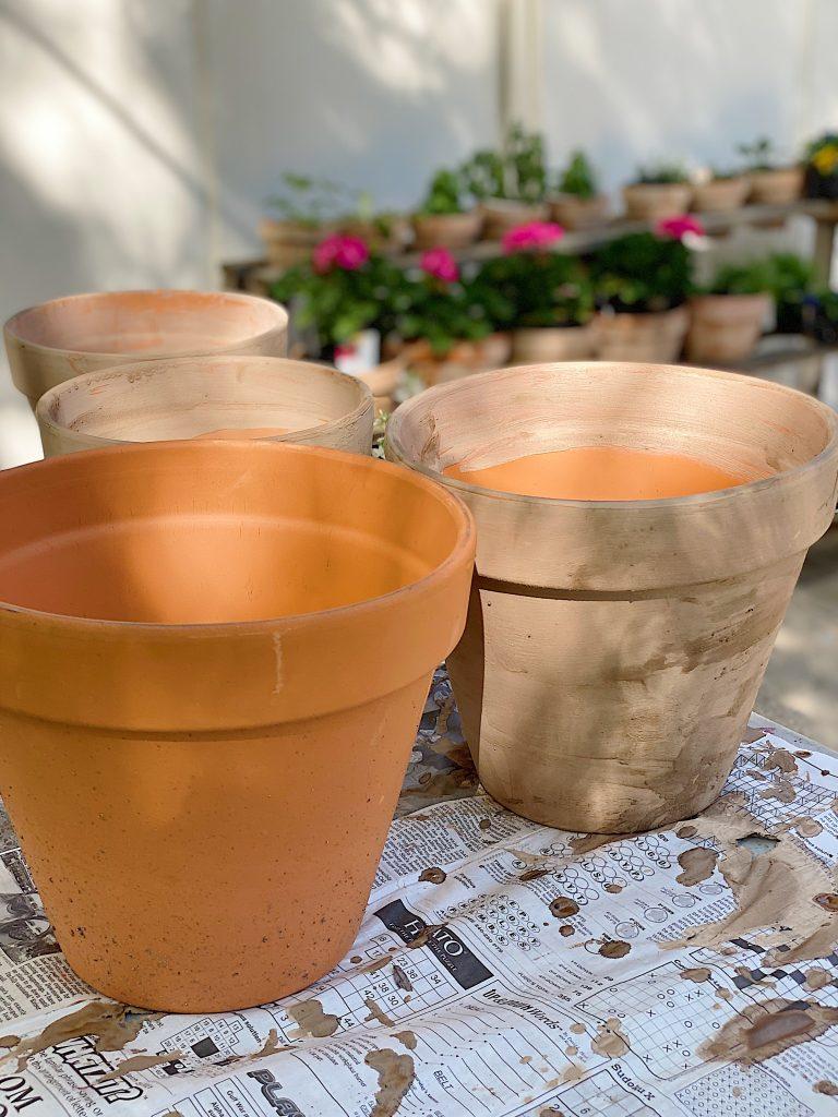 Terra Cotta Red Pots Turned Vintage