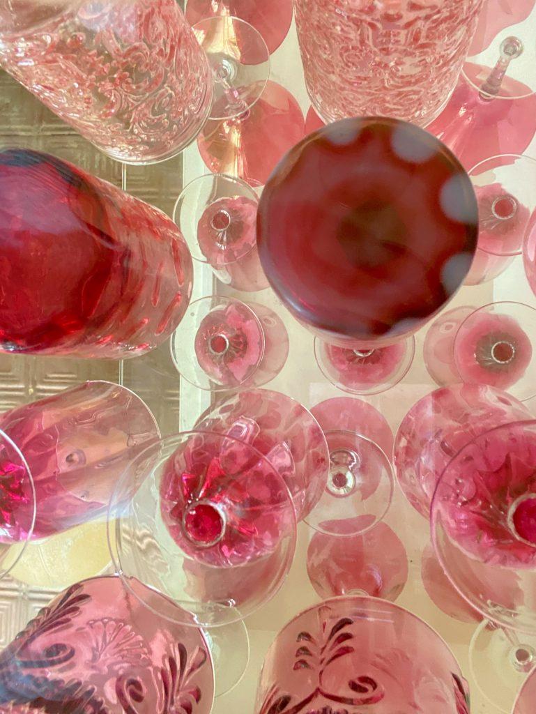 Unique View of Cranberry Glass
