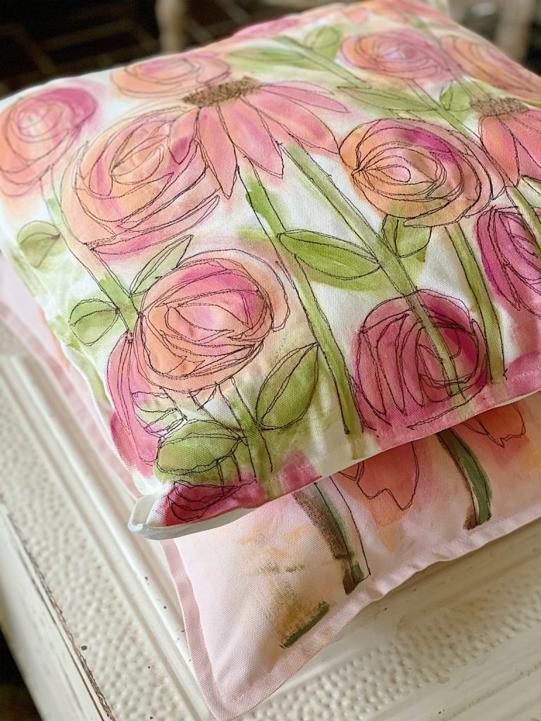Free Motion Stitch Embroidery DIY
