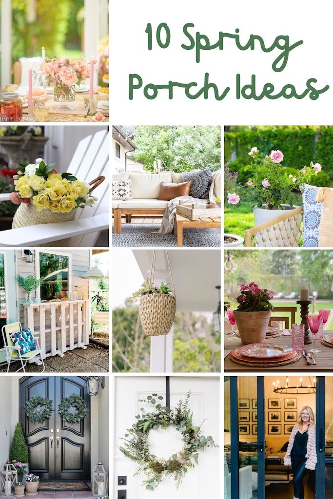 Spring is here and I decided it is time to decorate our back porch. Today I am sharing my back porch ideas for spring.