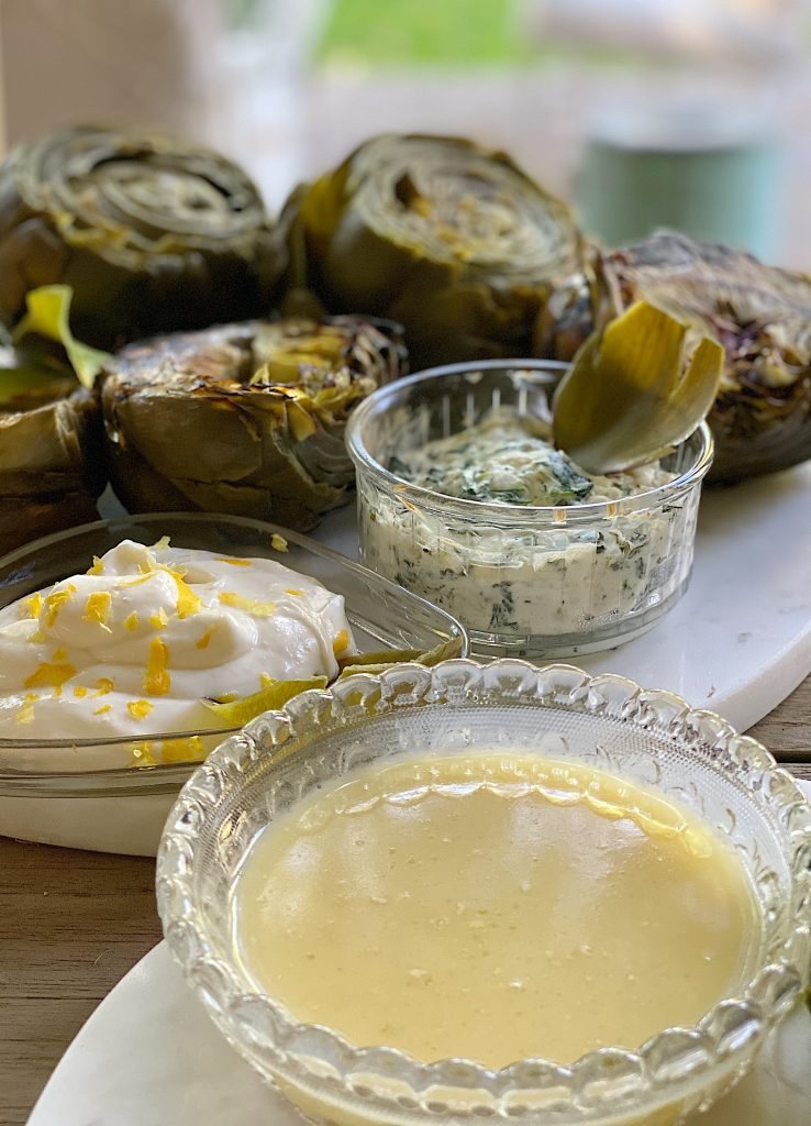 Artichokes and Dips