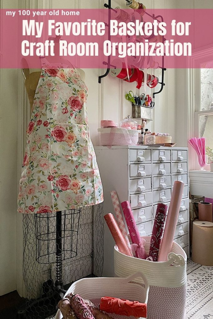 Baskets for Craft Room Organization