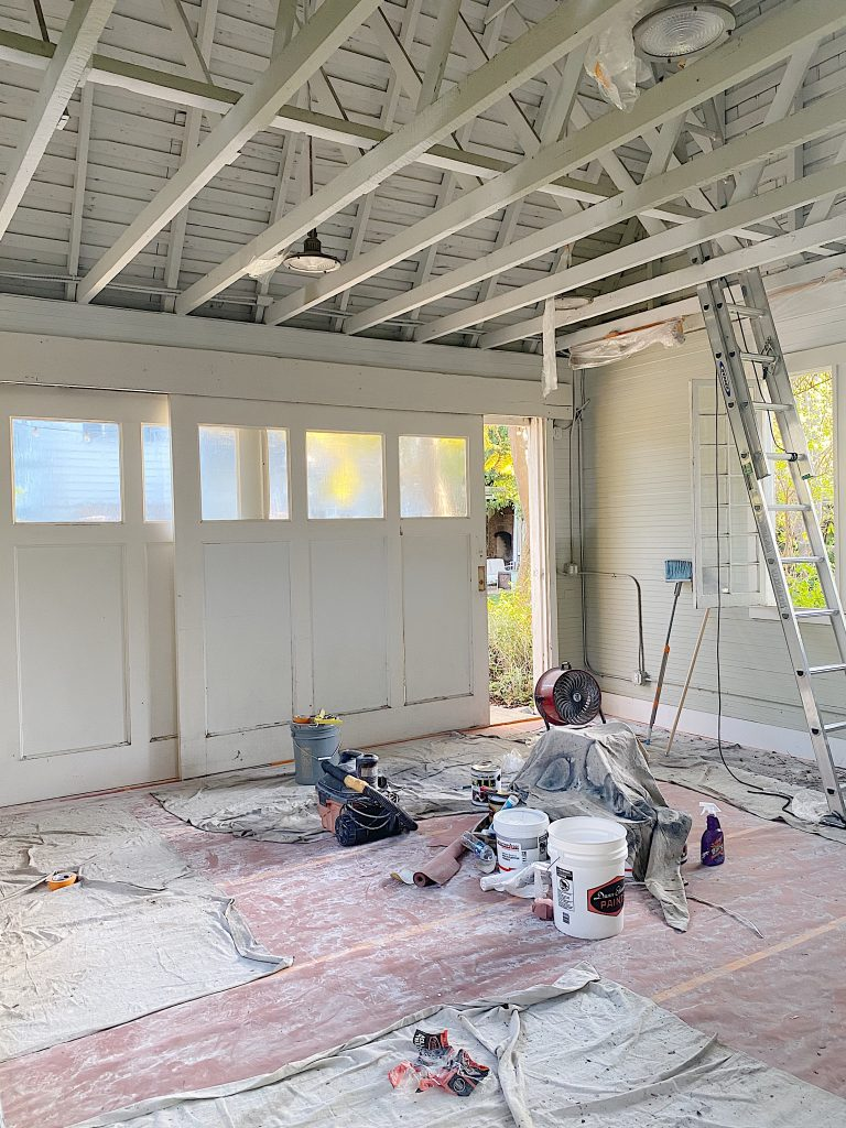 Carriage House Being Painted Photo