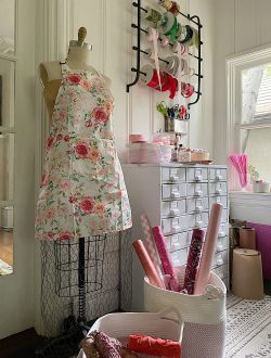 Craft Room Organization in Pink