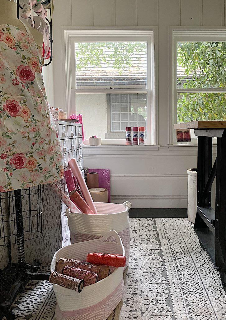 Craft Room Organization with Baskets