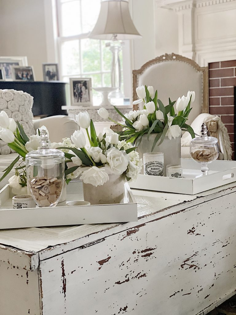 Decorative Serving Trays in the Living Room