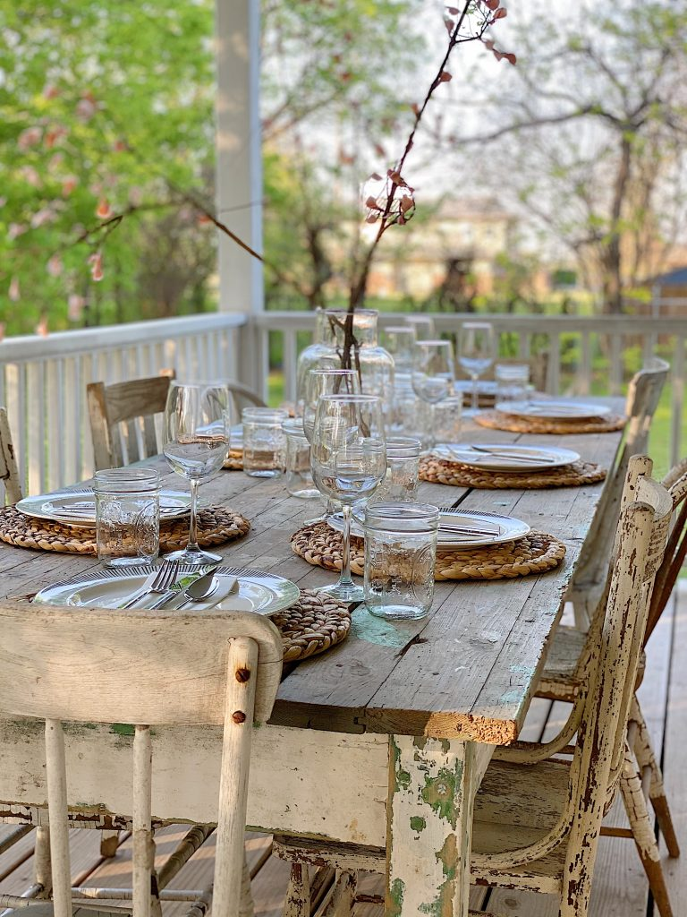 Dinner for Eight on the Wrap Around Porch