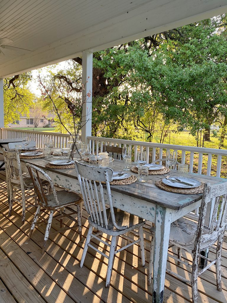 Dinner on the Wrap Around Porch