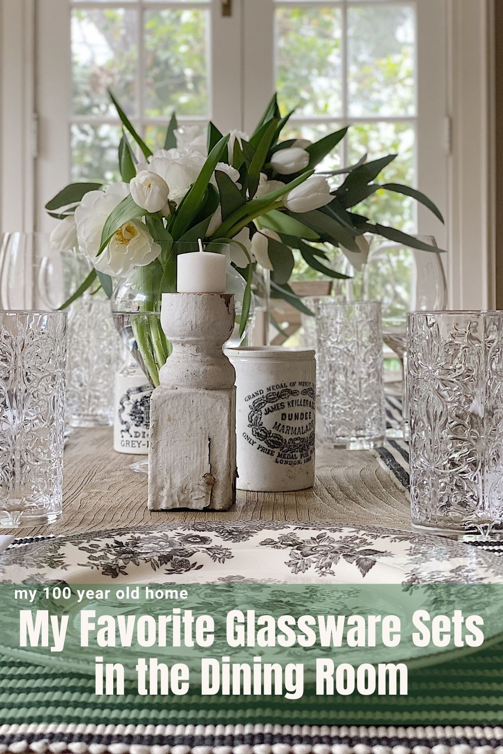 Today we styled the Dining Room and I shared some amazing Glassware Sets. I love the crystal style and how these glasses catch the light.