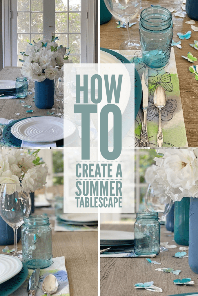 Today I am Sharing How You Can Use Watercolor Paper and Paint To Add Color to Your Tablescape. This is a great idea For Spring And Summer.