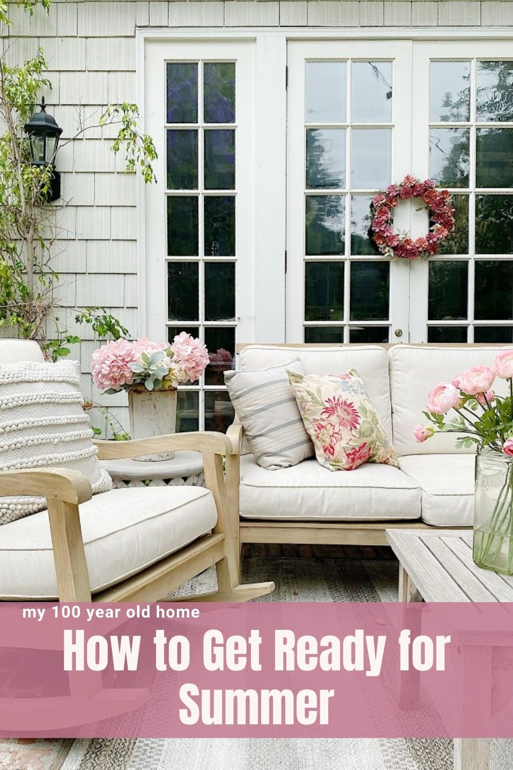 Today I am sharing my weekly thoughts about entertaining, decor, crafts, and recipes, and why I think we need to be thinking about getting ready for summer days!