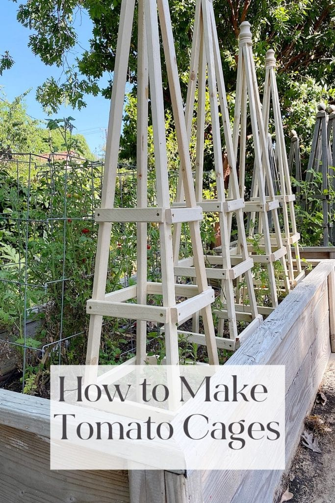 I am so excited to share my tomato cages DIY. It's an easy and fun project that anyone can make. They are inexpensive and look so amazing.