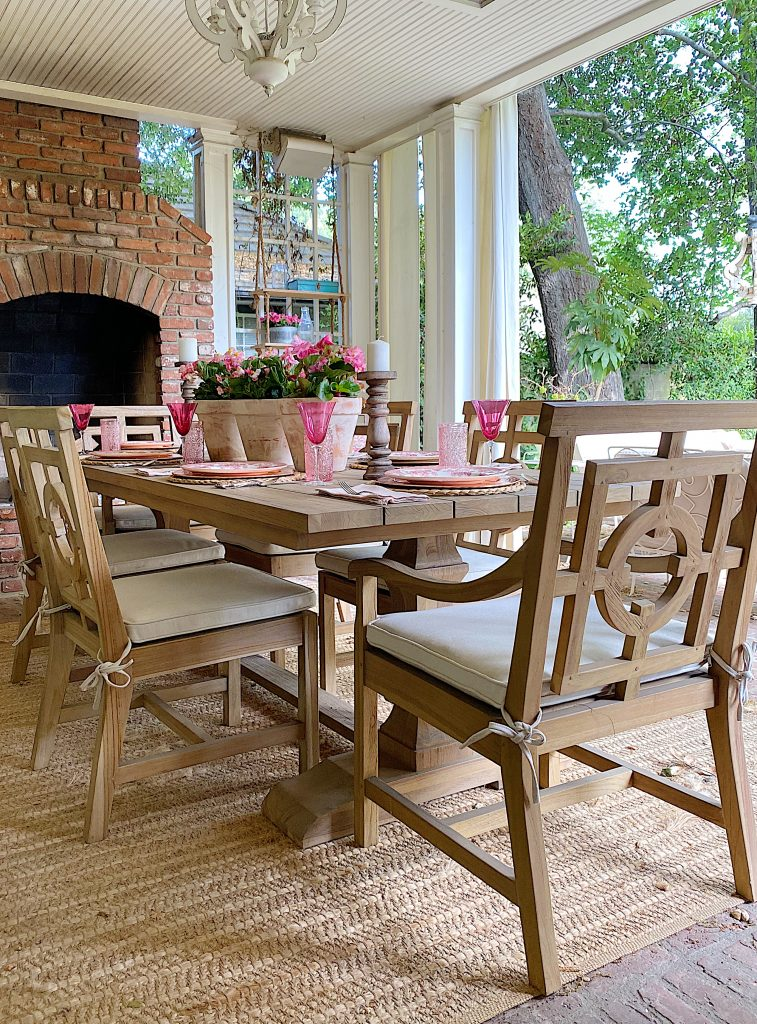 How to Update Your Back Porch for Spring with Pink