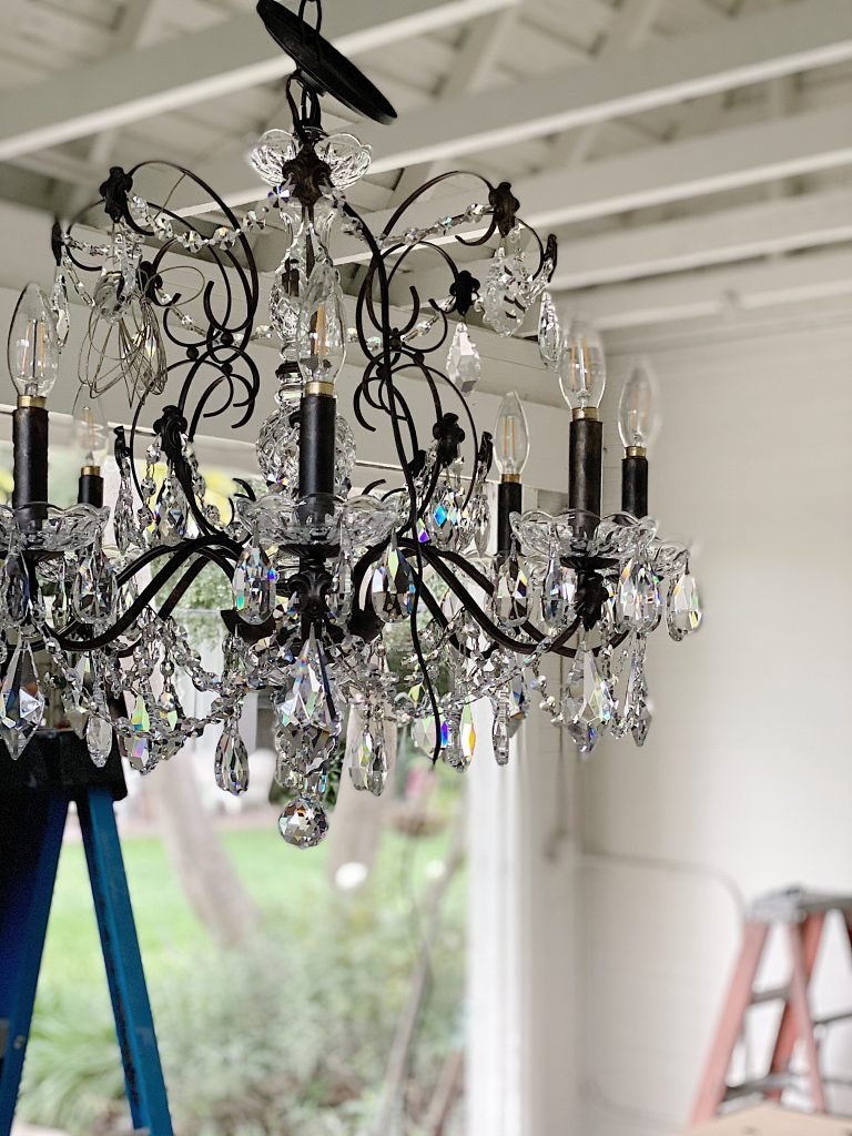 Lamps Plus Chandelier Adding Crystals 4