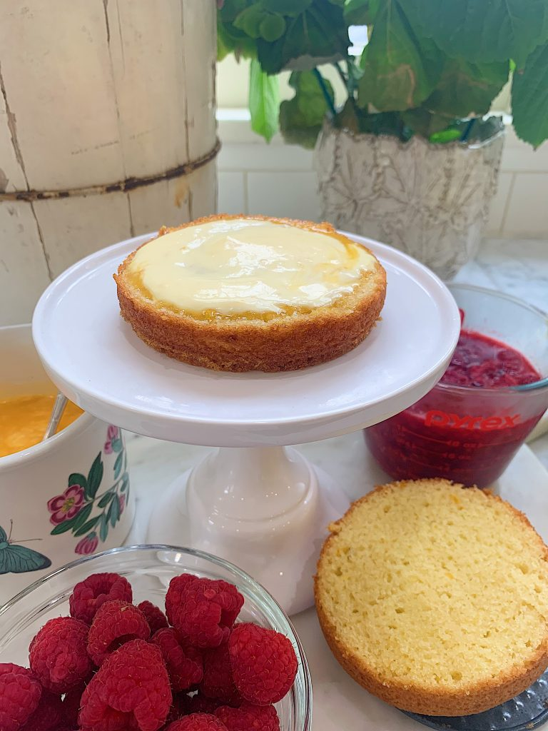 Layering the Olive Oil Cake