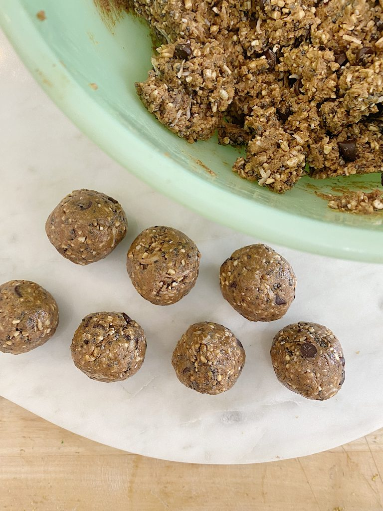 Making the Protein Balls with Peanut Butter