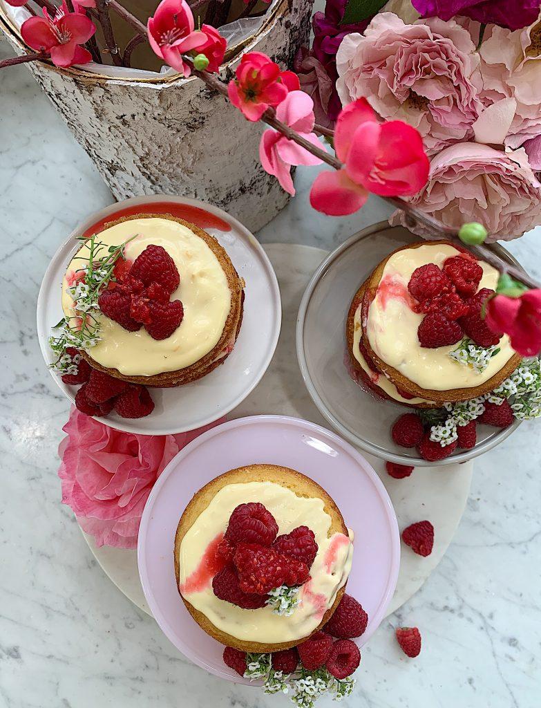 Meyer Lemon Raspberry Olive Oil Cake