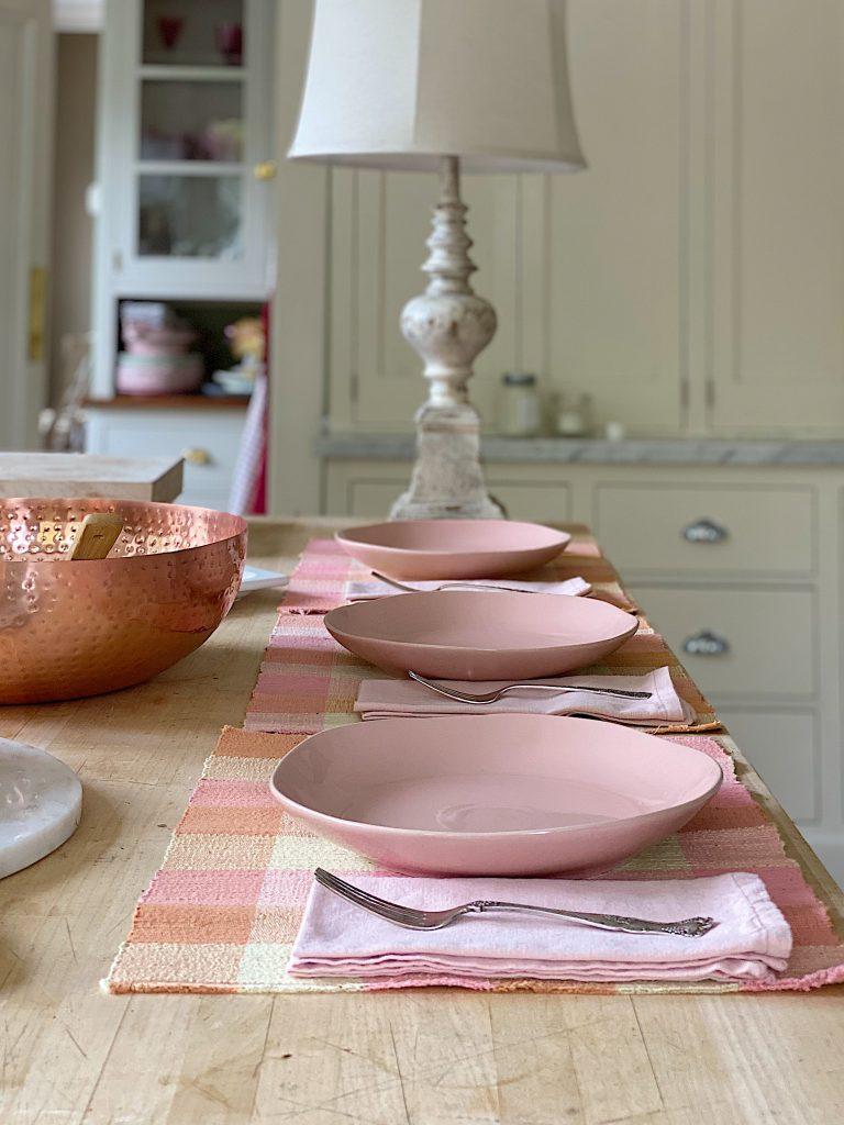 Pink Dinnerware for Pasta