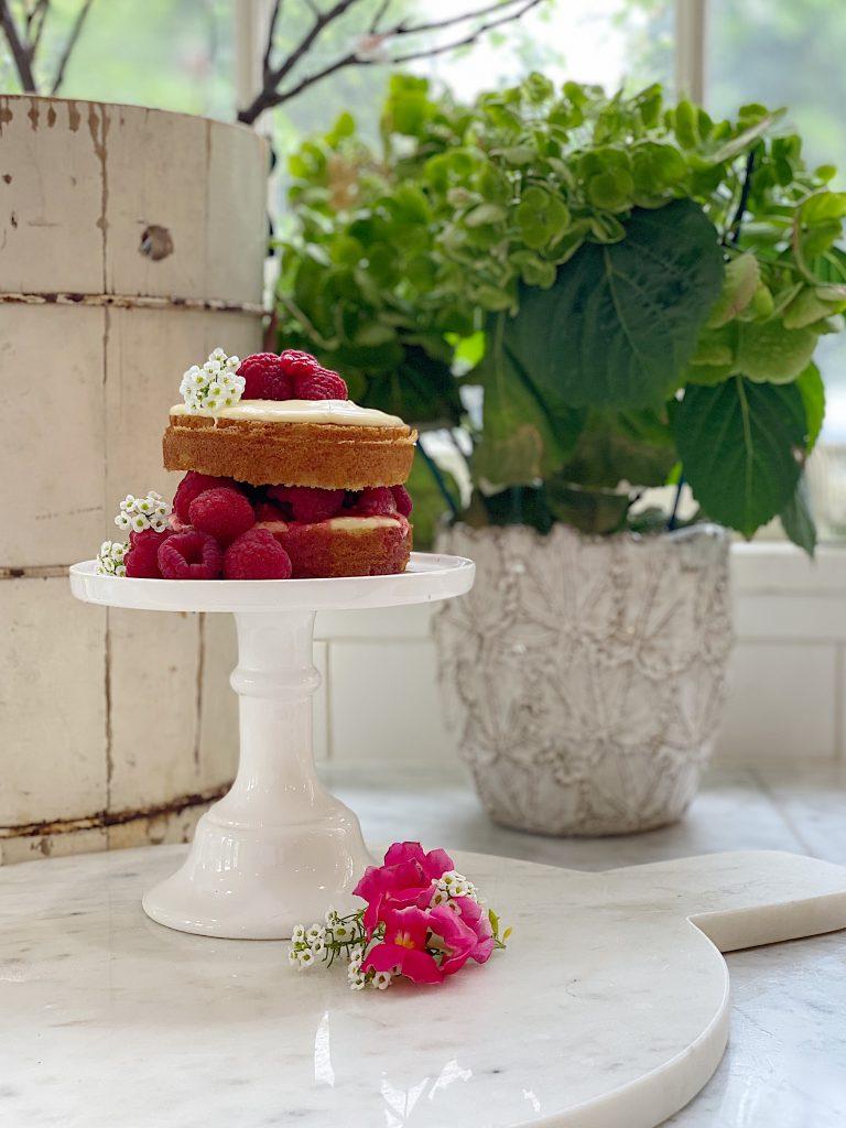 Raspberry Olive Oil Cake Recipe