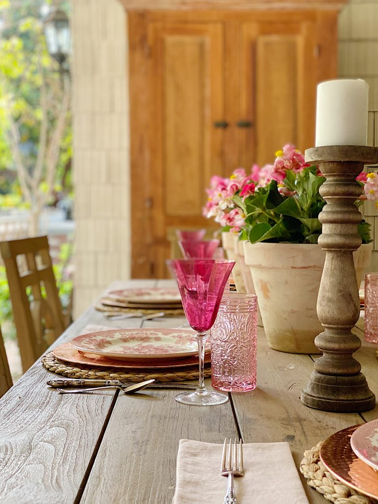 Setting the Table and Porch for Spring