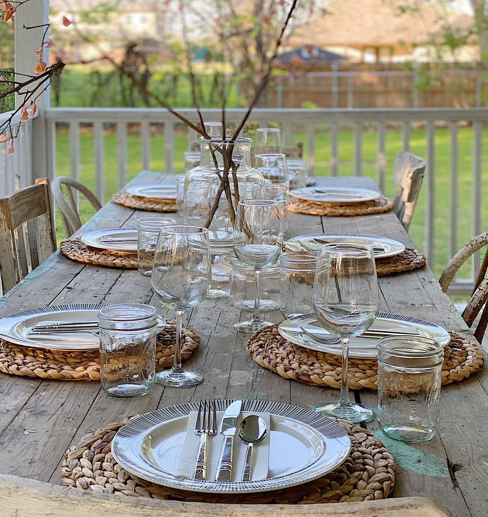 Spring Dinner on the Wrap Around Porch