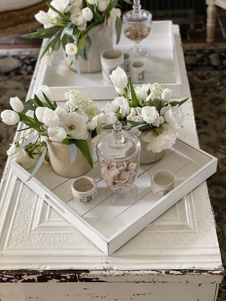 Two Decorative Serving Trays