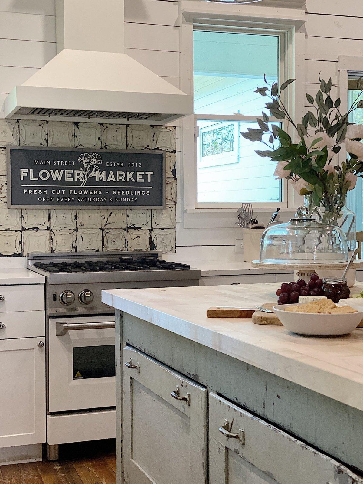 Waco Kitchen with Vintage Tile Backsplash