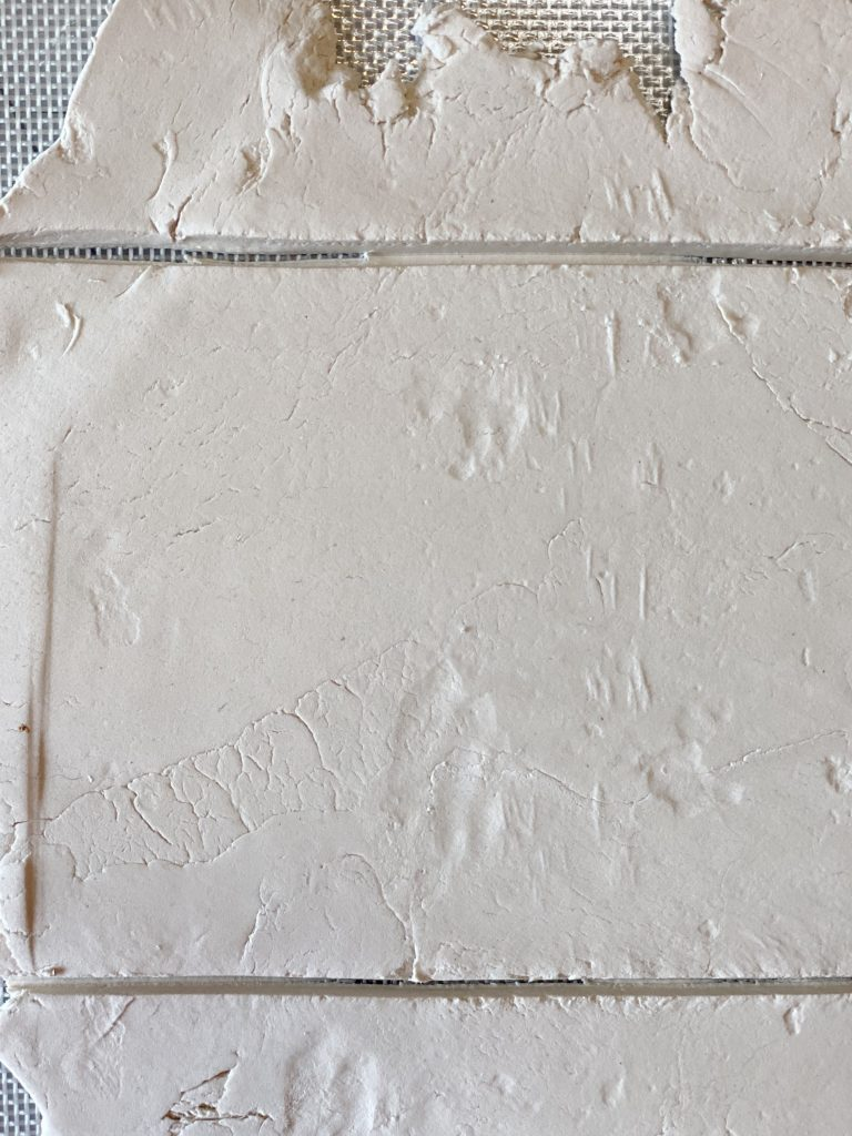 Cutting the Paper Clay