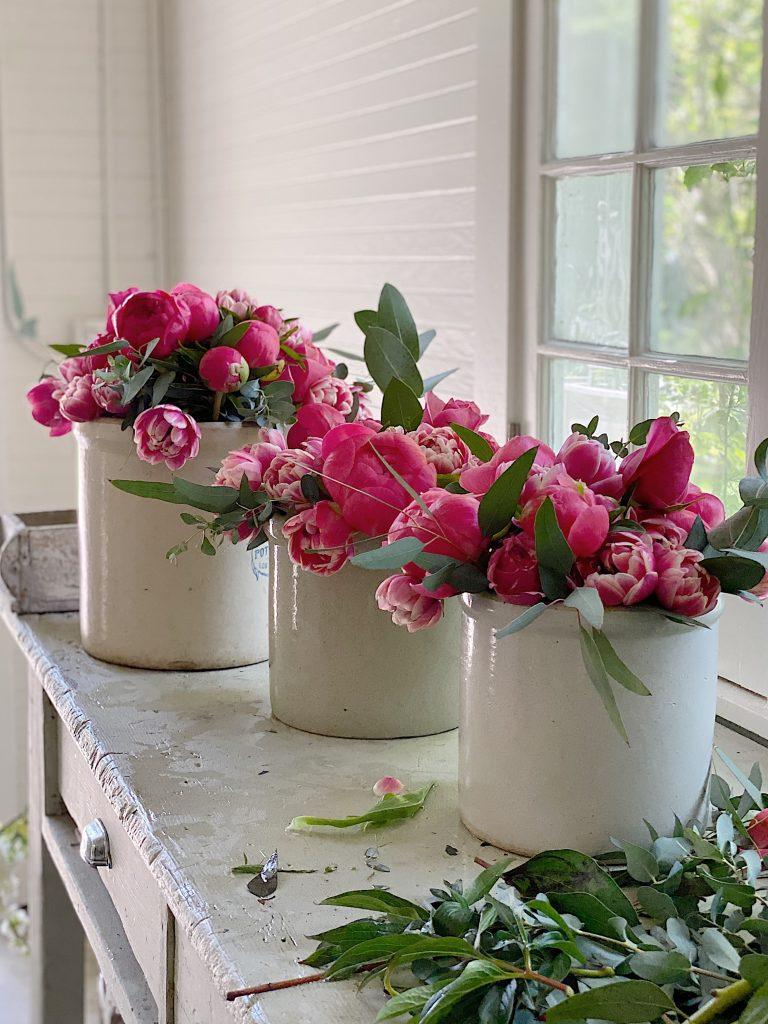 Decorating Flowers in Vases
