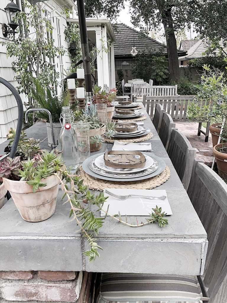 Dining at the Outdoor Kitchen