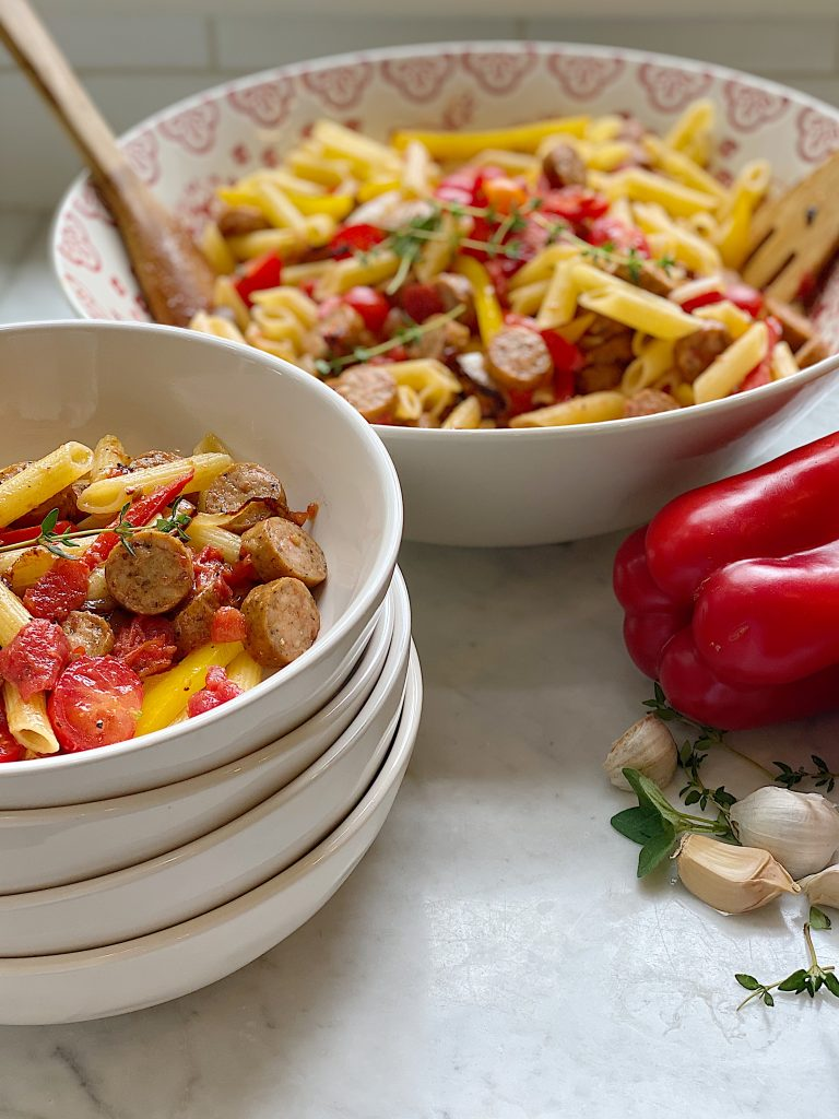 Easy Sausage and Peppers Pasta