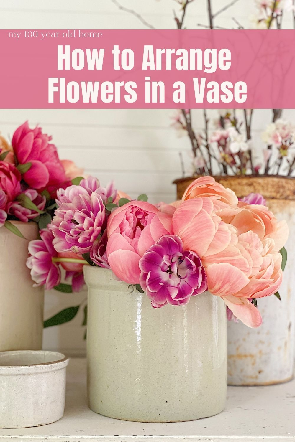 I love to arrange flowers and today I am sharing a foolproof and easy way to arrange flowers in a vase.