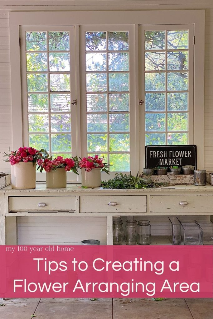How to Create a flower Arranging Area in your Home