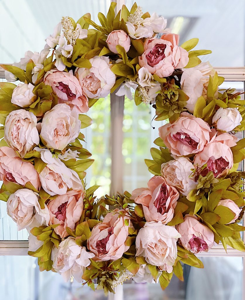 How to Make a Peony Floral Wreath