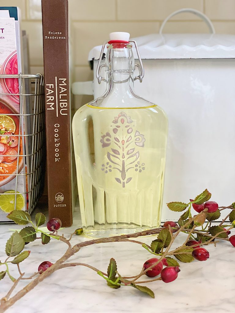 How to Make a Stenciled Olive Oil Container