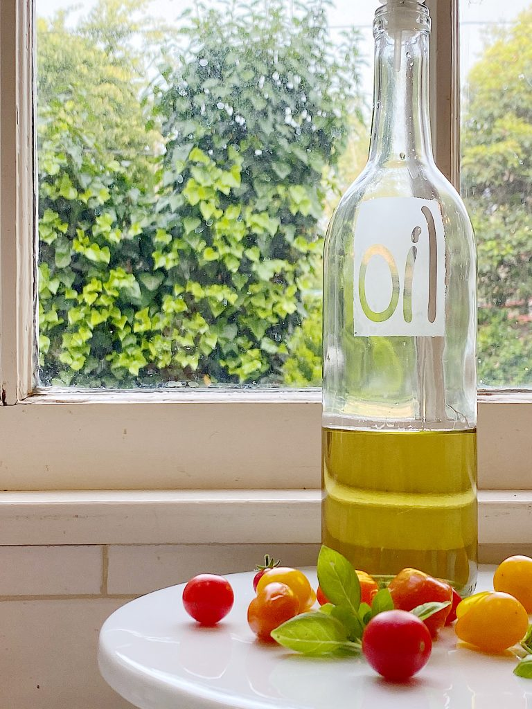 How to Make an Etched Olive Oil Container
