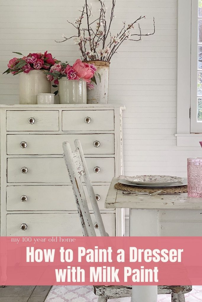 How to Paint a Dresser with Milk Paint