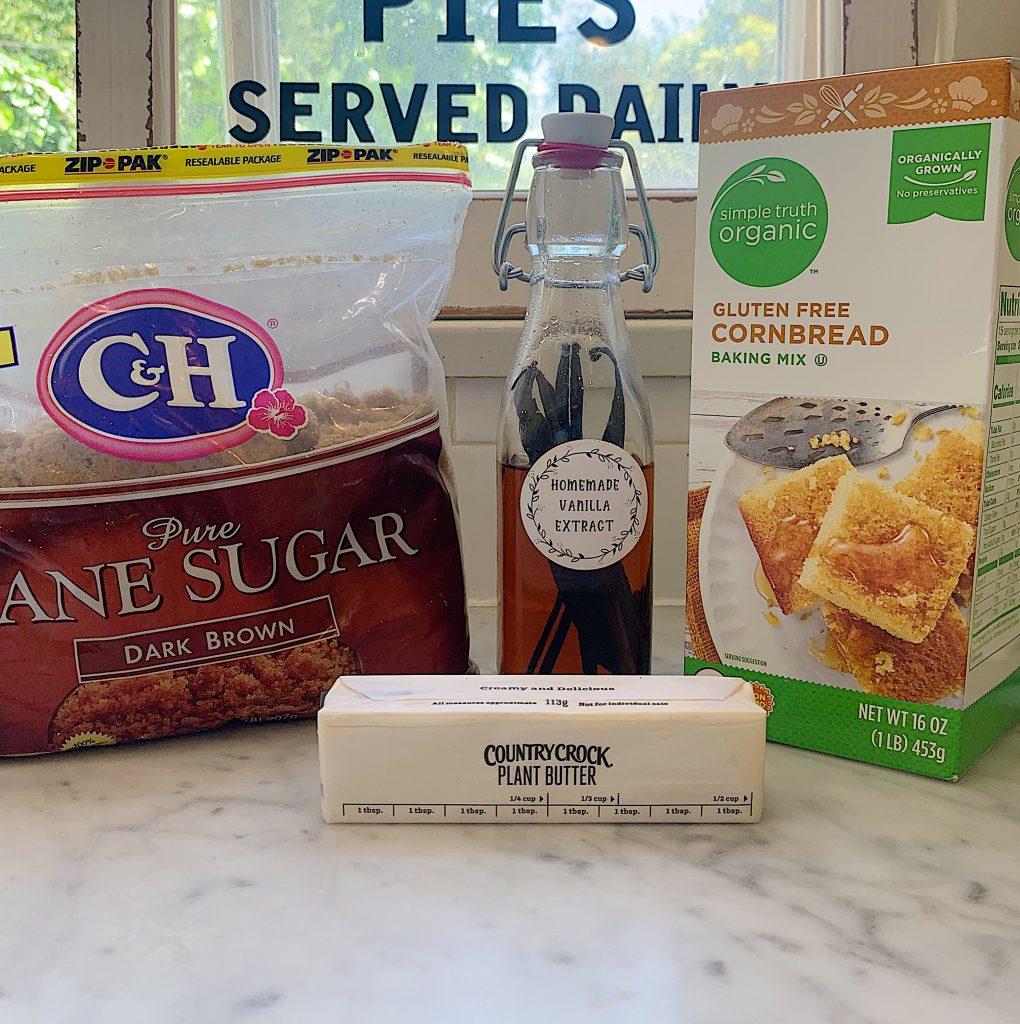 Ingredients for Brown Sugar Vanilla Compound Butter